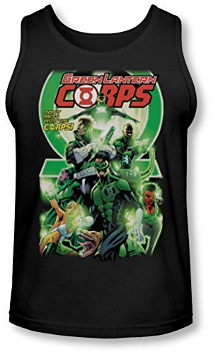 Green Lantern - - Gl Corps Homme # 25 Cover Tank-Top, Small, Black