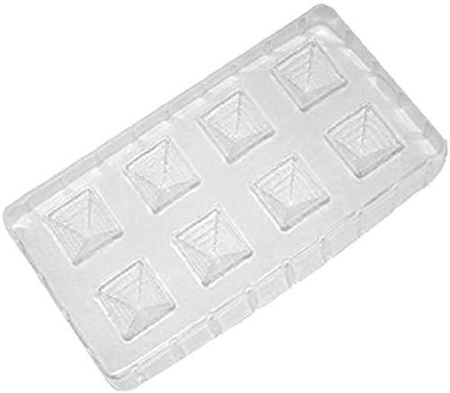 IBILI 752001 Moule Bonbon en Forme Pyramide, Plastique, Blanc, 30 x 20 x 17 cm