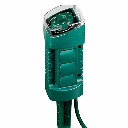 Sylvania 6-outlet Power Stake with Timer and Photocell Sensor