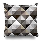 4 Stück Dekokissen Abdeckung Diamant abstrakte geometrische grau Muster Cube Dreieck moderne Form...