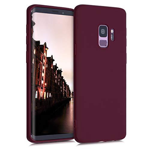 kwmobile Hülle kompatibel mit Samsung Galaxy S9 - Handyhülle - Handy Hülle in Bordeaux Violett