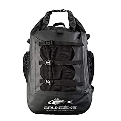 This fishing product backpack shows the Grundens Gage Rum Runner 30L Backpack.
