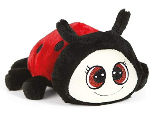 De.car2-coccinella Peluche Mariquita, Color Rojo Negro, 25194