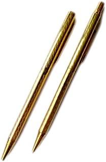 Wavy Design Gold Pen and Pencil Set (B2)