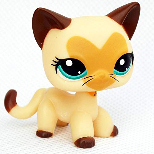 FINIMY Pet Shop Toys Lps Toy Littlest Lps Cat Original Black Short Hair Cat Mini Pet Shop Toys Standing Real Rare Toys Kitty 3573