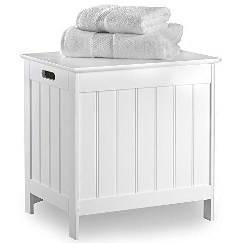 VonHaus Wäschekorb Korb - Waschen Wäschekorb mit Deckel für Schlafzimmer oder Badezimmer
