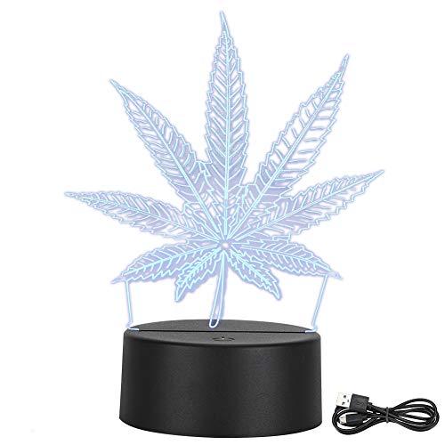 Luz de noche 3D, lámpara de guardería LED LED de 7 colores que cambia para niños, regalos de cumpleaños de Navidad Año Nuevo para niños
