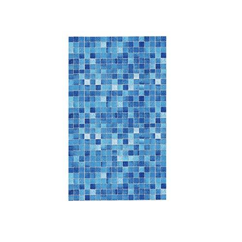 Pegatinas para cocina, resistentes al aceite, azules, cuadradas, papel pintado, autoadhesivo, para cuarto de baño, decoración principal, decoración de pared, salón, dormitorio, decoración