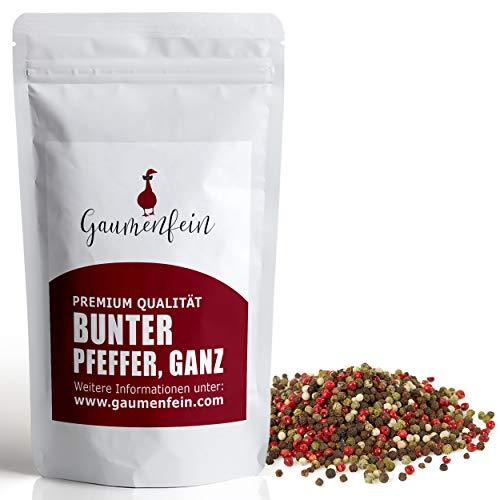 GAUMENFEIN® Bunter Pfeffer Ganz - Ganze Pfefferkörner für Pfeffermühle und Mörser - 100% natürliche Premium Qualität - 250g