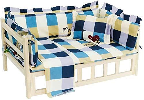 UIZSDIUZ Haustierbett Hundebett aus Holz Heben, for Groß Mittel Klein Hund for Indoor Outdoor Nutzung, Katzenbett (Color : Style2, Size : L(95×55×40cm))