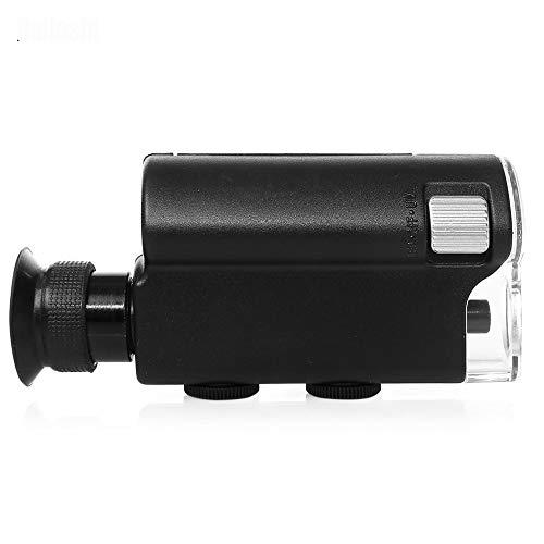 YELLAYBY Heißer Verkauf Mini Tragbare Mikroskop-Tasche 140x ~ 240x Handheld-LED-Lampe Light Lupe-Zoom-Lupe-Lupe-Vergrößerungsglas-Taschenlinse Natürlichen Beobachtung/Teilprüfung