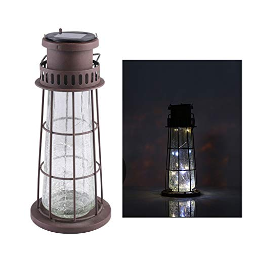 JLXW LED zonnelampen voor buiten, tafellampen met glazen lampenkap IP44 waterdicht landschap decoratieve verlichting crackle glas metaal stake light voor de tuin