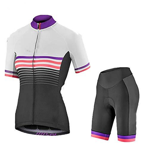 Yajun Conjunto De Jersey Ciclismo para Mujer De Verano MTB Ropa De Bicicleta De Carretera Camisas De Bicicleta De Montaña Transpirables Tapas De Secado Rápido,D,S(160-168cm/50-55kg)