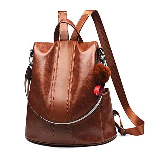 DEERWORD Damen Rucksackhandtaschen Frau Damenhandtaschen Stadtrucksack Henkeltaschen Braun | Taschen > Handtaschen > Rucksackhandtaschen | DEERWORD