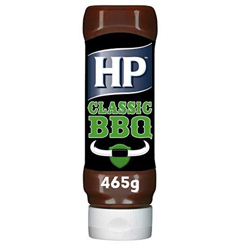 HP Classic Woodsmoke BBQ Sauce, der Saucenklassiker aus England, Squeeze Flasche, 465g