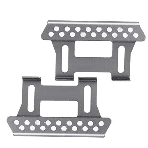 DAUERHAFT RC Car Side Pedal Plate Metal Step Sliders Durable para Axial para Scx10 1/10 RC Car(Silver)