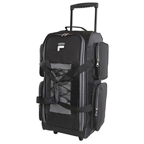 Fila 26' Lightweight Rolling Duffel Bag, Black, One Size