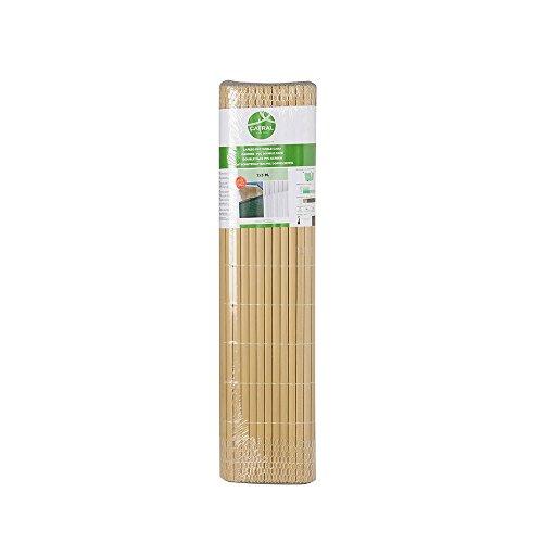 Catral Deutschland GmbH 42010026 Sichtschutzmatte PVC, bambusfarben 0,9x3m, Transparent, 90 x 24 x 8 cm