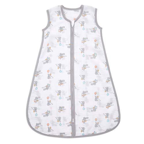 aden Essential Schlafsack, 1,0 Tog, 0-6 Monate, 100% Musselin-Baumwolle, Dumbo neue Höhen