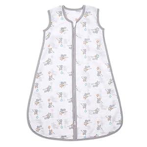Aden Essential Saco de dormir 1,0 TOG (0-6 meses) 100% muselina de algodón – Dumbo New Heights.