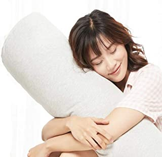 Nile Valley Hotel Egyptian Cotton Feather Fill Round Bolster