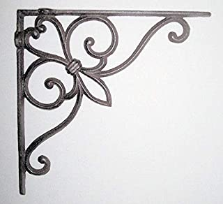 dist by classyjacs - Heavy Cast Iron - All-Purpose Shelf Bracket - with Victorian Scroll Design - Bracket - Hanger - Indoor or Outdoor Use - (Rustic Bronze Finish - Goes Good with Oil Rubbed)@