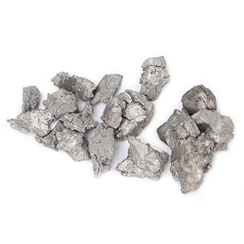 99,9% di Zirconio Spugna Ad Elevata Purezza, Barra di Cristallo di Zirconio Metallico, Campione di Elemento Puro in Una Piastrella di Elemento Periodico PEGUYS, Campione di 40 Esperimenti(100G)