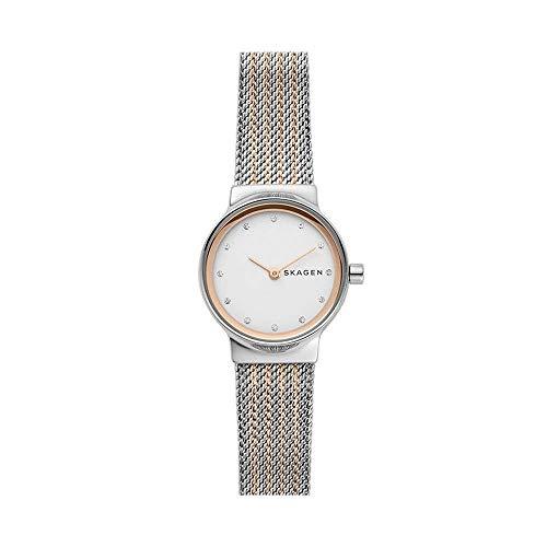 Skagen Damen Analog Quarz Uhr mit Edelstahl Armband SKW2699
