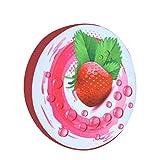 Lumanuby 1x 3D Druck Rund Sitzkissen Frucht Weiches Plüsch Kissenbezug Stuhlkissen Holz oder Obst...