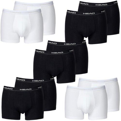 HEAD Men Boxershort 841001001 Basic Boxer 10er Pack 6x black 4x white, Gr.S