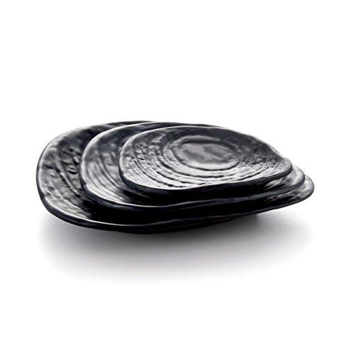 1 Pc Kinglang Platter Korean Solid Black KTV Food Plate Dish