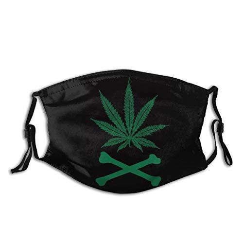 Marijuana Unisex Mouth Cover – Face Mask – Reusable Neck Gaiter Washable Bandana Balaclava – for Home Sports Outdoor
