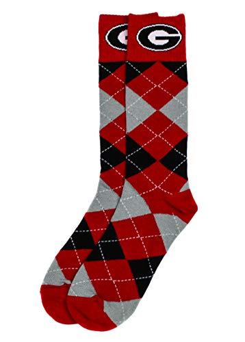 donegal bay Georgia Argyle Dress Sock, Red, One Size