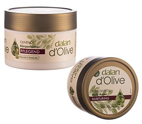2x Dalan d´Olive Bodybutter 250ml Olive Set Körperbutter Intensiv Pflege