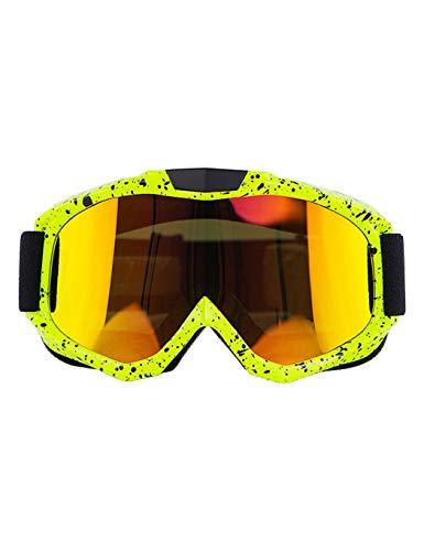 WYSTAO Windschutzscheibe Motorradhelm Offroad-Brille Winddicht Radfahren Brille Männer und Frauen Outdoor-Kletterbrille Brille (Color : 1)