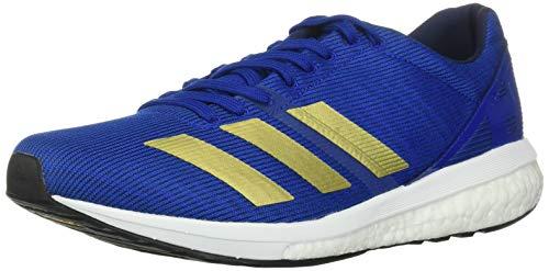 adidas Men's Adizero Boston 8 Running Shoe, Collegiate Royal/Gold Metallic/White, 5 UK