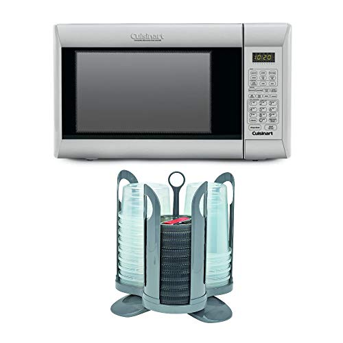 Cuisinart CMW-200 Convection Microwave Oven with Grill with Plastic Storage Containers and Rack System Bundle (2 Items)