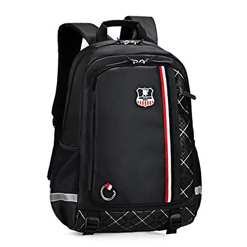 Neusky Schulrucksack Schulranzen Schultasche Sports Rucksack Freizeitrucksack Daypacks Backpack für Mädchen Jungen & Kinder Jugendliche mit der Großen Kapazität (Vintage-Schwarz)