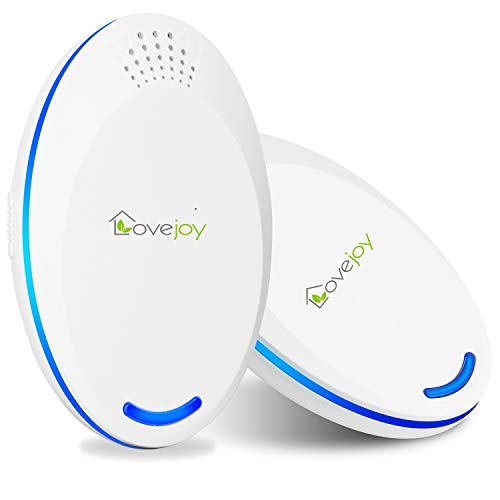 Lovejoy Ultrasonic Pest Repeller-Electronic Plug in Repellent Indoor for Fleas, Insects, Mosquitoes, Mice, Spiders, Ants, Rats, Roaches, Bed Bugs - Human and Pet Safe Pest Control(White,Pack of 2)
