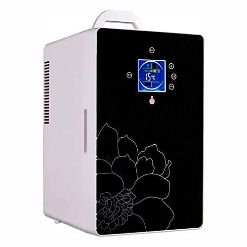 Big Shark Auto-koelruimte, draagbare koelkast/mini-koeler voor levensmiddelen, dranken, 16 liter, huidverzorging thuis, kantoor, in de auto, boot AC & DC-stekkers inclusief