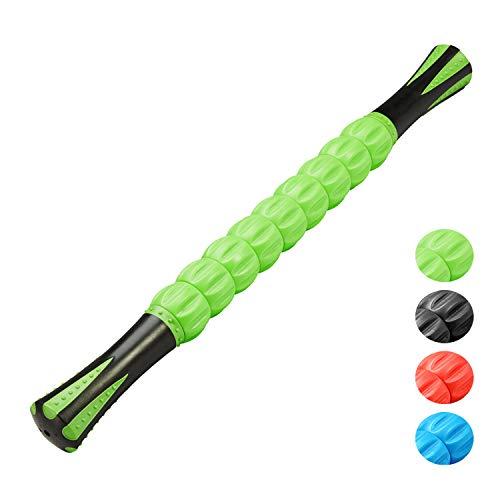 Reehut Massageroller Muskel Roller Stick 45cm mit ergonomischen Griffe ultraportabel Massagegerät für Myofasziale Release, Triggerpunkttherapie, physikalische Therapie, Selbstmassage & Body Recovery