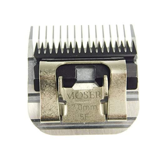 """Samsebaer Edition Moser """"Snap On"""" - Cabezal de corte, todos los tamaños, p. ej.: Moser Max 45+ max 50, Aesculap, Oster y Andis. Modelos según descripción (1/10, 1/20, 1, 2, 2.3, 2.5, 3, 5, 7, 9mm). 50F 40F 30F10F 10W 9F 8.5F 7F 5F 4F, 7mm"""
