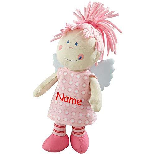 HABA Tine 3951 Schutzengel mit Namen Bestickt Baby Geschenk zur Geburt Puppe Glücksbringer Kinder Stoffpuppe