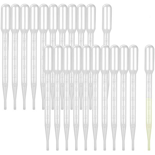 CCINEE 200PCS 3ml Disposable Plastic Transfer Pipettes Moveland Calibrated Dropper Suitable for Science Laboratory