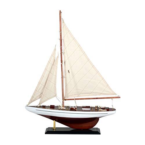 Vidal Regalos Figura Decorativa Barco Velero Madera Adorno Maqueta Miniatura Vela 55 cm
