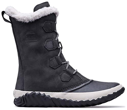 Sorel - Women's Out 'N About Plus Tall Insulated Winter Boot, Black, 8 M US