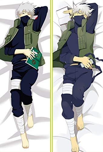 Zenghh Funda de Almohada de Doble Cara patrón de Naruto Hatake Kakashi 150x50cm, 160x50cm (59 x 19.6in, 63i X 19.6in) Peach Piel Pillowslip de la Cubierta del Amortiguador (Color : 150cm x 50cm)