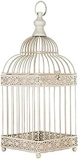 Antique White Metal Bird Cage