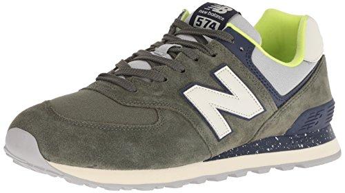 New Balance 574v2, Sneaker Uomo, Verde (Dark Covert Green/Pigment HVC), 43 EU