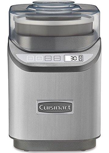 Cuisinart ICE-70 Electronic Ice Cream Maker, Brushed Chrome (Renewed)